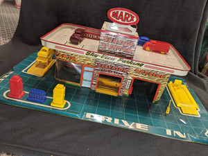 Vintage Marx Service Center Toy Gas Station and Garage