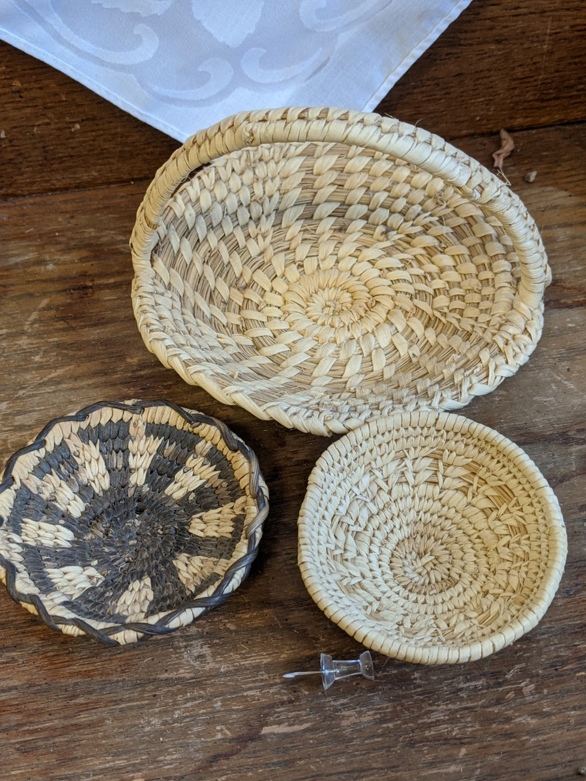 Native American grass-weave mini-baskets