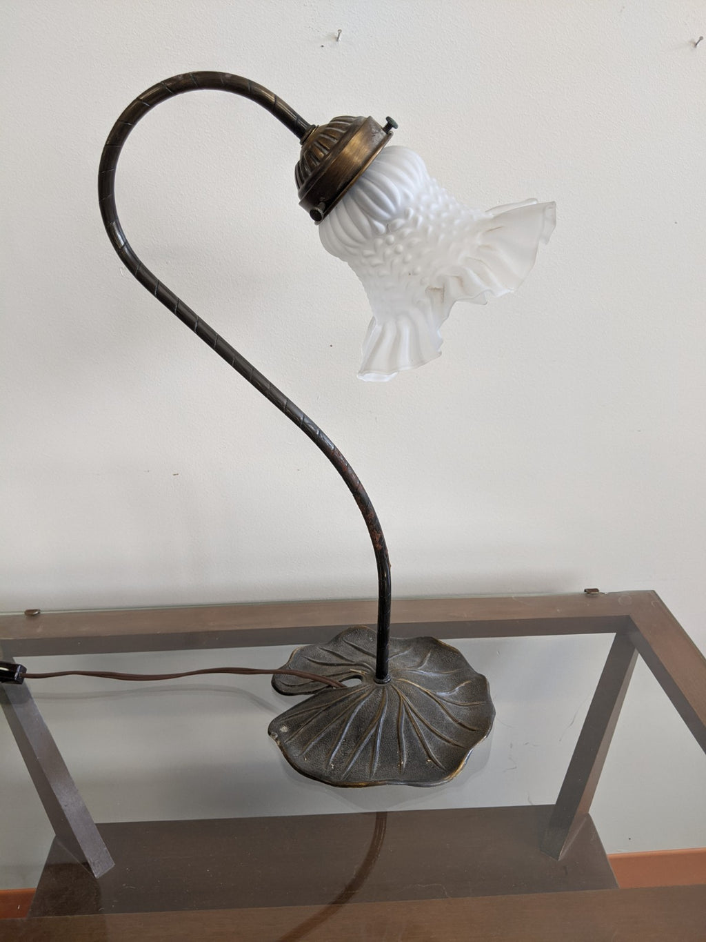 Vintage metal tulip desk lamp