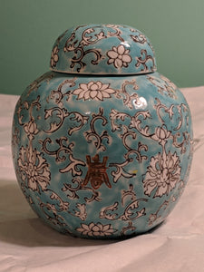 "5"" blue and white vase, Hong Kong"