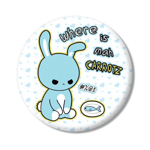 Button/Magnet Angry Bunny