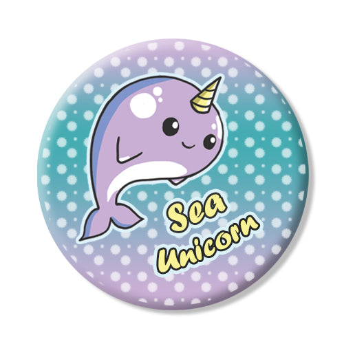 Button/Magnet Narwhal