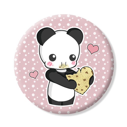 Button/Magnet Panda cookie
