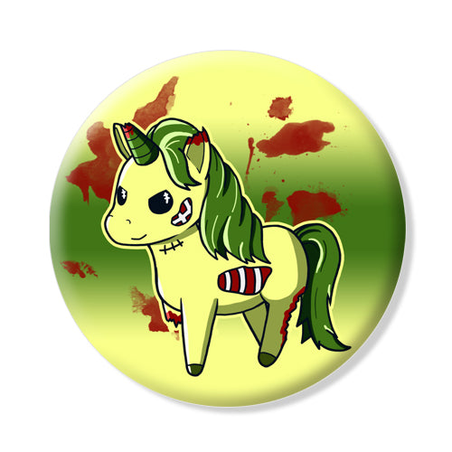 Button/Magnet Unicorn Zombie