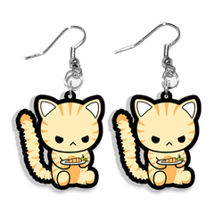 Angry Cat Earrings