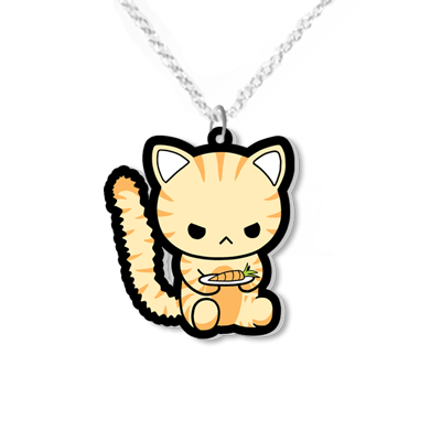 Angry cat necklace small