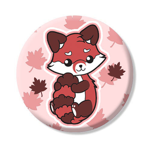 Big Button Red Panda