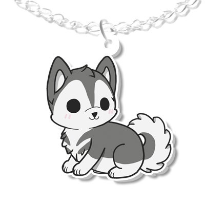 Husky Dog Necklace