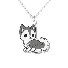 Husky dog necklace small