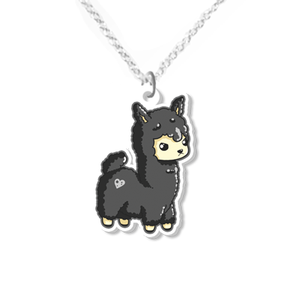 Angry llama necklace small