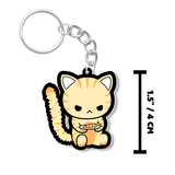 Angry Cat Keychain