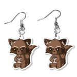 Raccoon Earrings