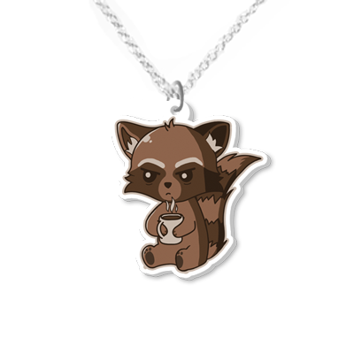 Raccoon necklace small