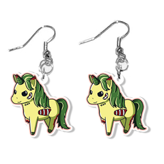 Zombie Unicorn Earrings