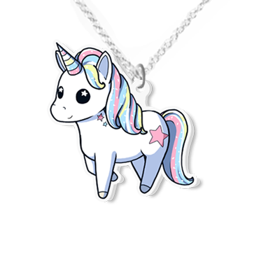 Unicorn necklace small