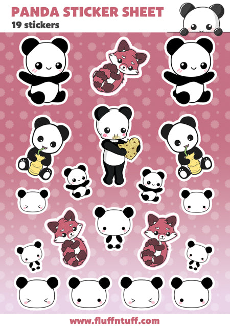 Stickersheet Panda
