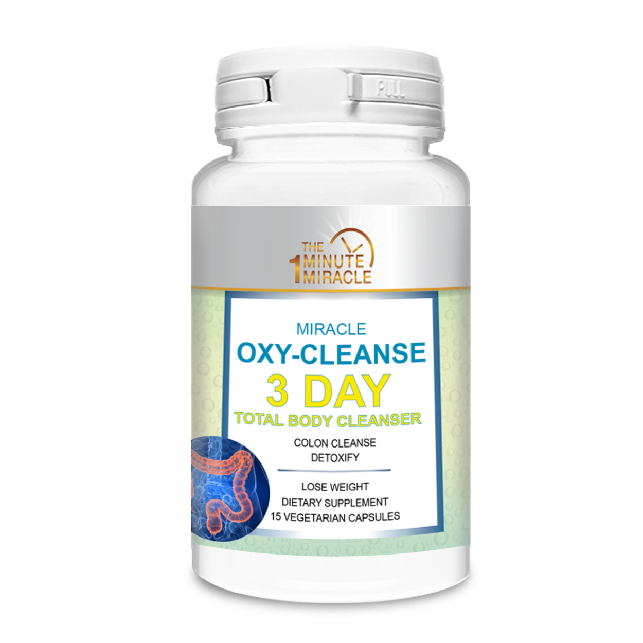 3 Day Total Body Cleanser - Miracle Oxy-Cleanse Detox and Colon Cleanser