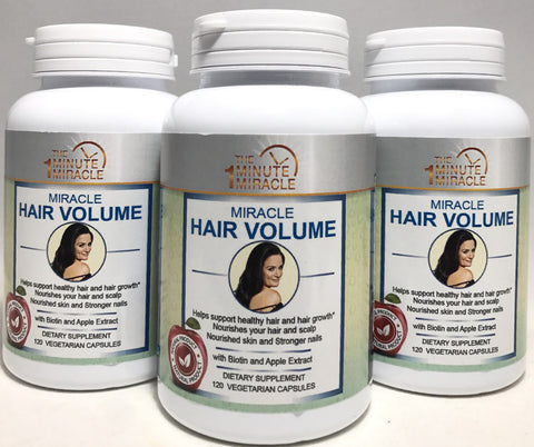 HAIR GROWTH AND VOLUME - 3 Bottles