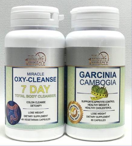 Oxy-Cleanse Colon Cleanser and Detox - 7 DAY Total Body Cleanser and Garcinia Cambogia Extract