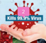 Miracle Hand Sanitizer - 24 Individual 5 ML Packages -Kills 99.9% Germs and Bacterias