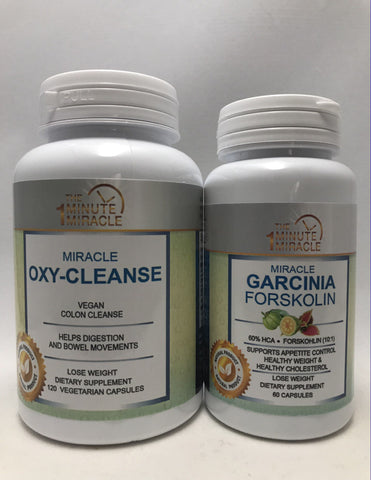 Garcinia Forkscoline, Miracle Oxy-Cleance And 7 DAY Totall Body Cleanser