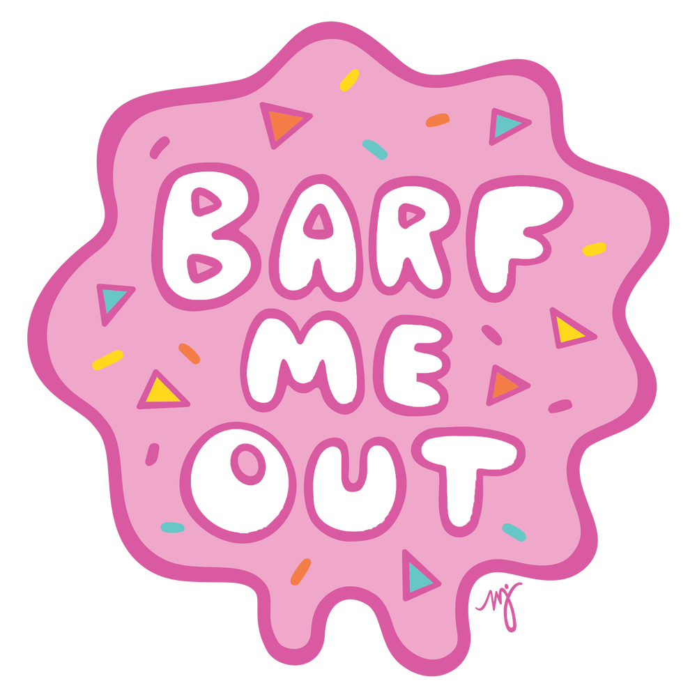 MD Barf Me Out womens tee- yellow