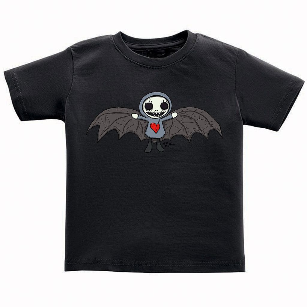 Boogily Heads Bat tee- black