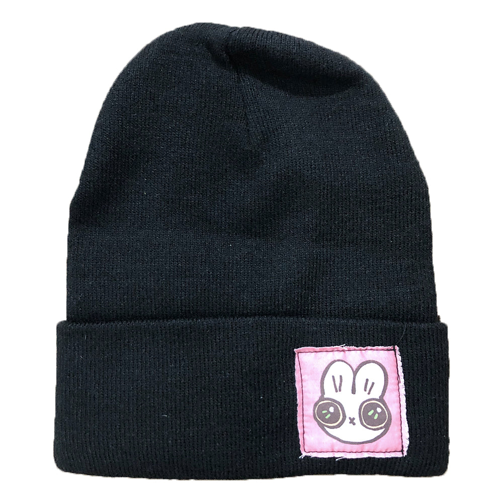 Heathersketcheroos: Beanie- Black with Bunny Face