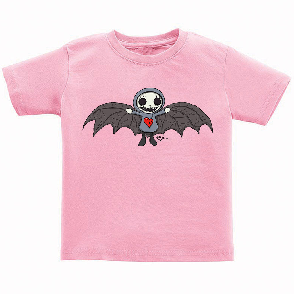 Boogily Heads Bat tee- pink