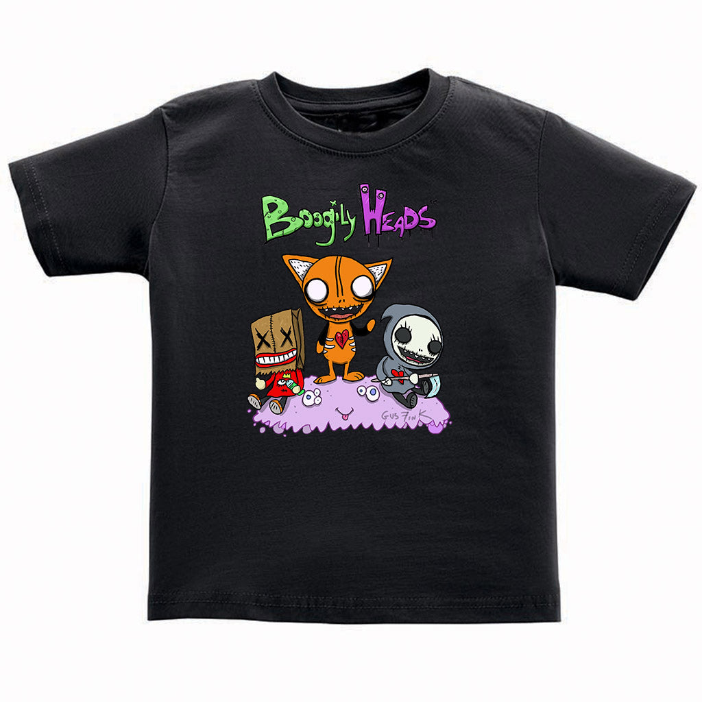 Boogily Heads Trio tee- black