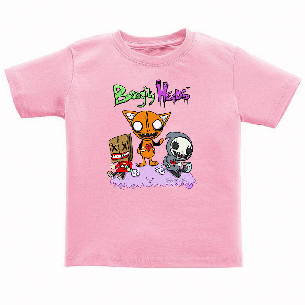 Boogily Heads Trio tee- pink