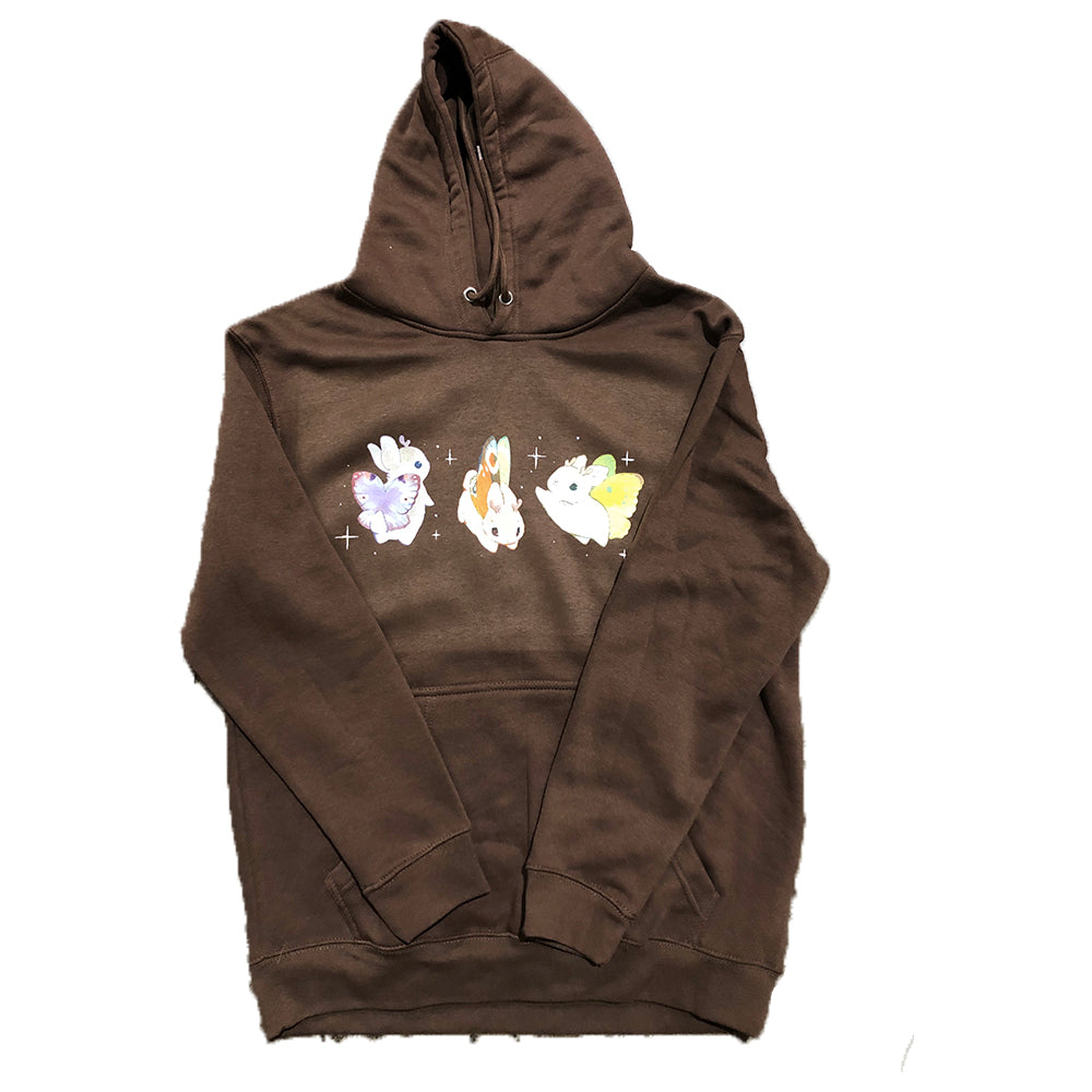 Heathersketcheroos: Jackalopes Adult Hoodie Chestnut
