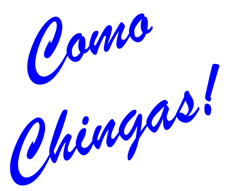 Chisme Brand: Como Chingas Womens Ringer Tee Natural/Navy