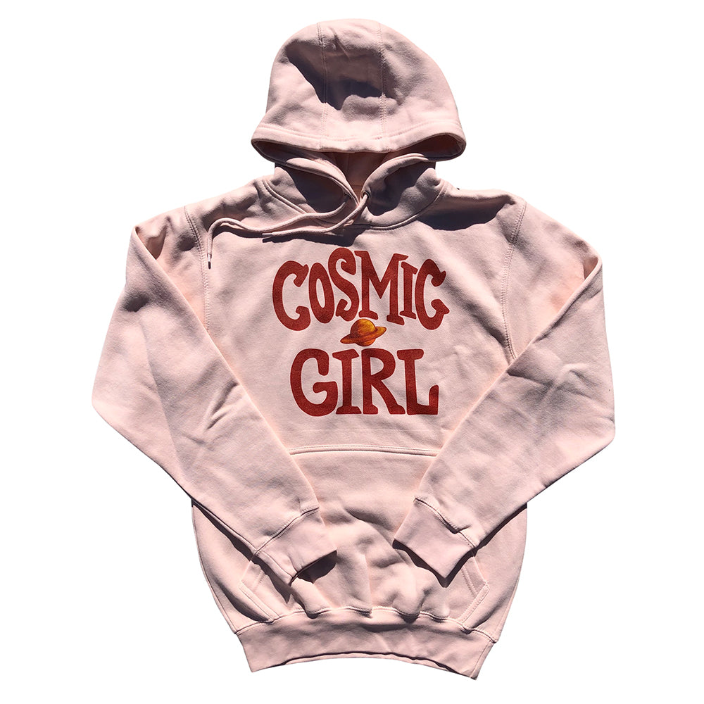 Neimy Kanani: Cosmic Girl Adult Unisex Pullover Hoodie Pink