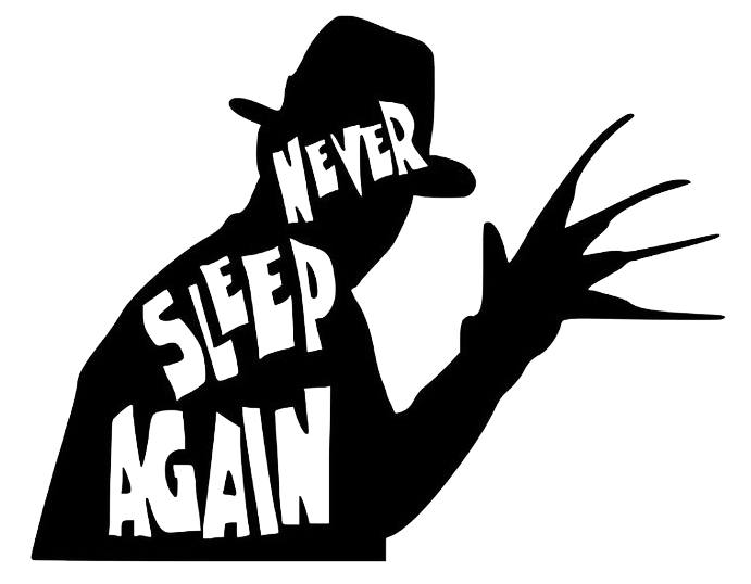 Never Sleep Again Adult Tee White