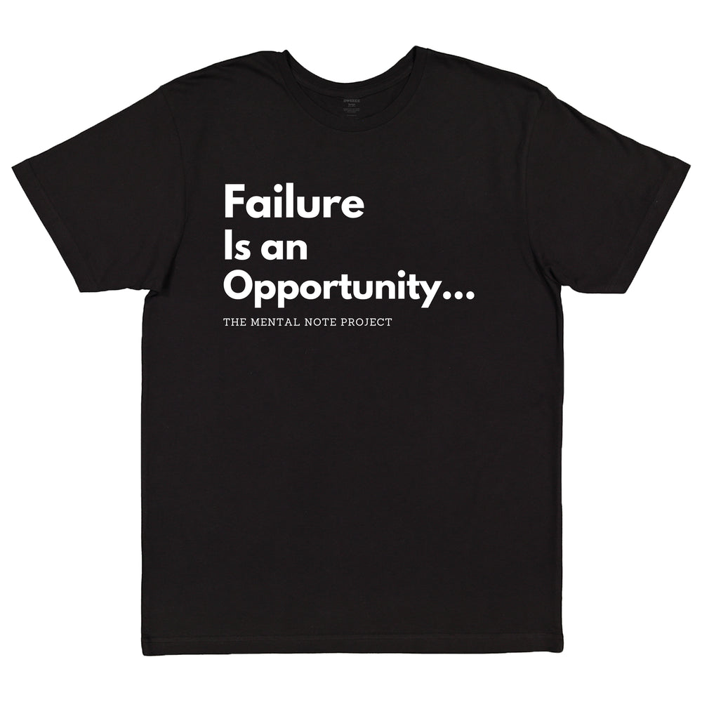 Failure is an Opportunity Black Adult Unisex Short Sleeve Tee