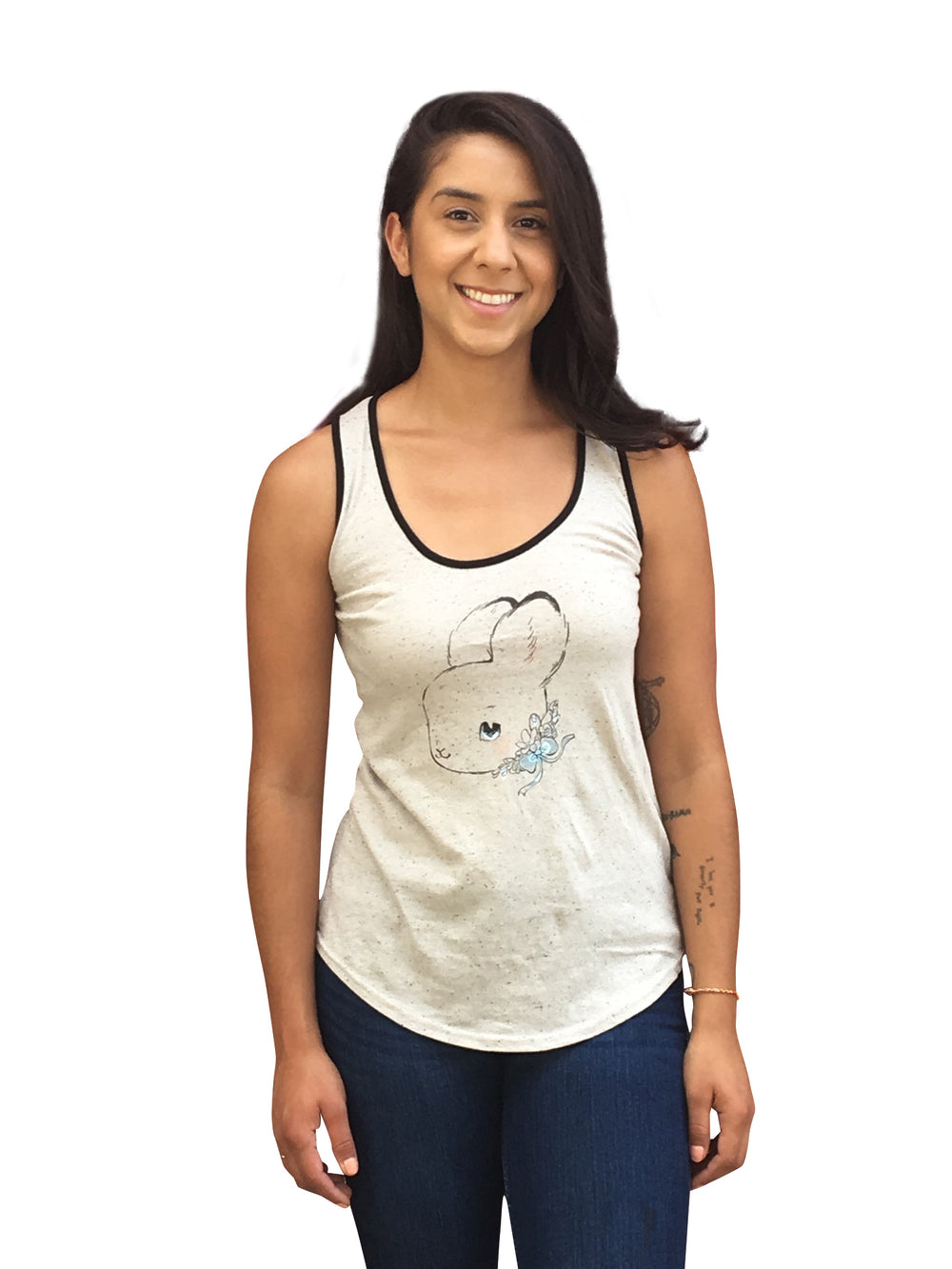 Heathersketcheroos: Fancy Bun ringer tank