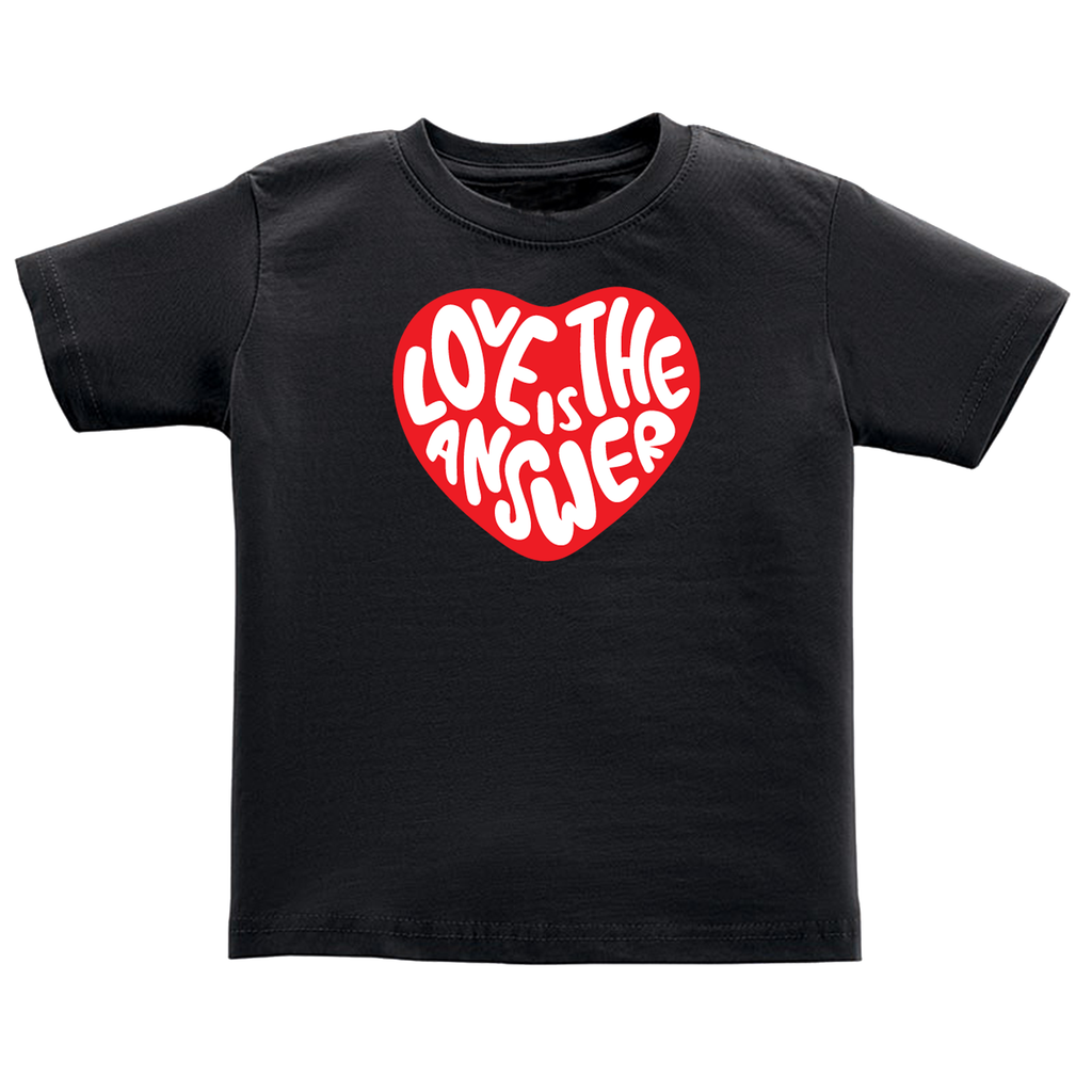 Love is the Answer- black tee