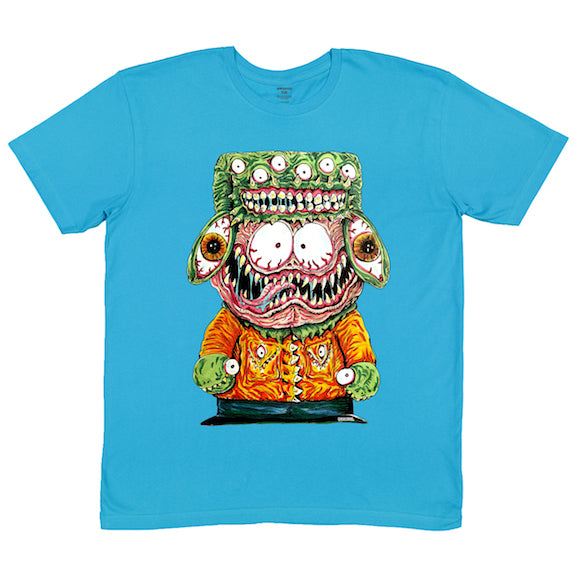 Rob Israel: Midwest Monster turquoise short sleeve adult tee