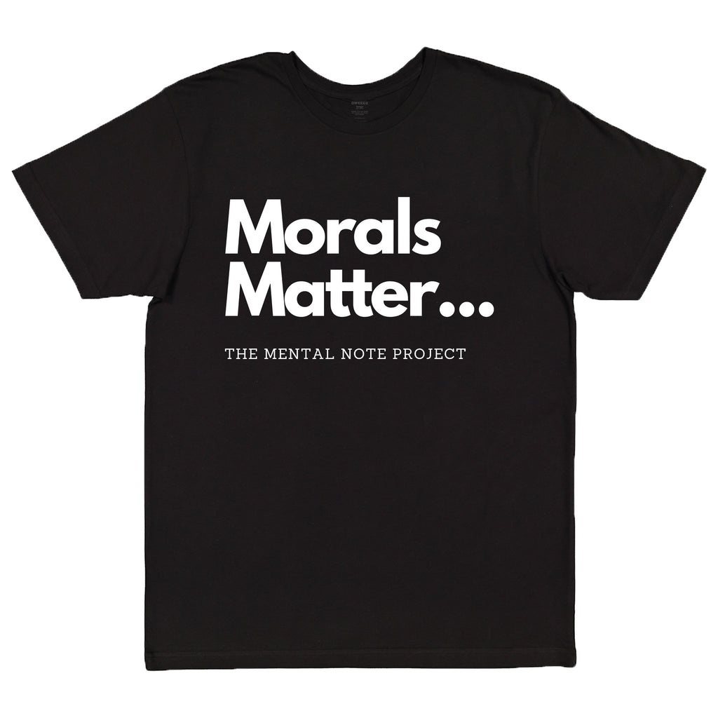 Morals Matter Black Adult Unisex Short Sleeve Tee