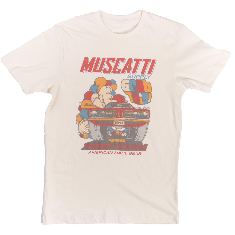 Muscatti Supply Co. : Sweet Custom Mens Short Sleeve Tee Vintage White