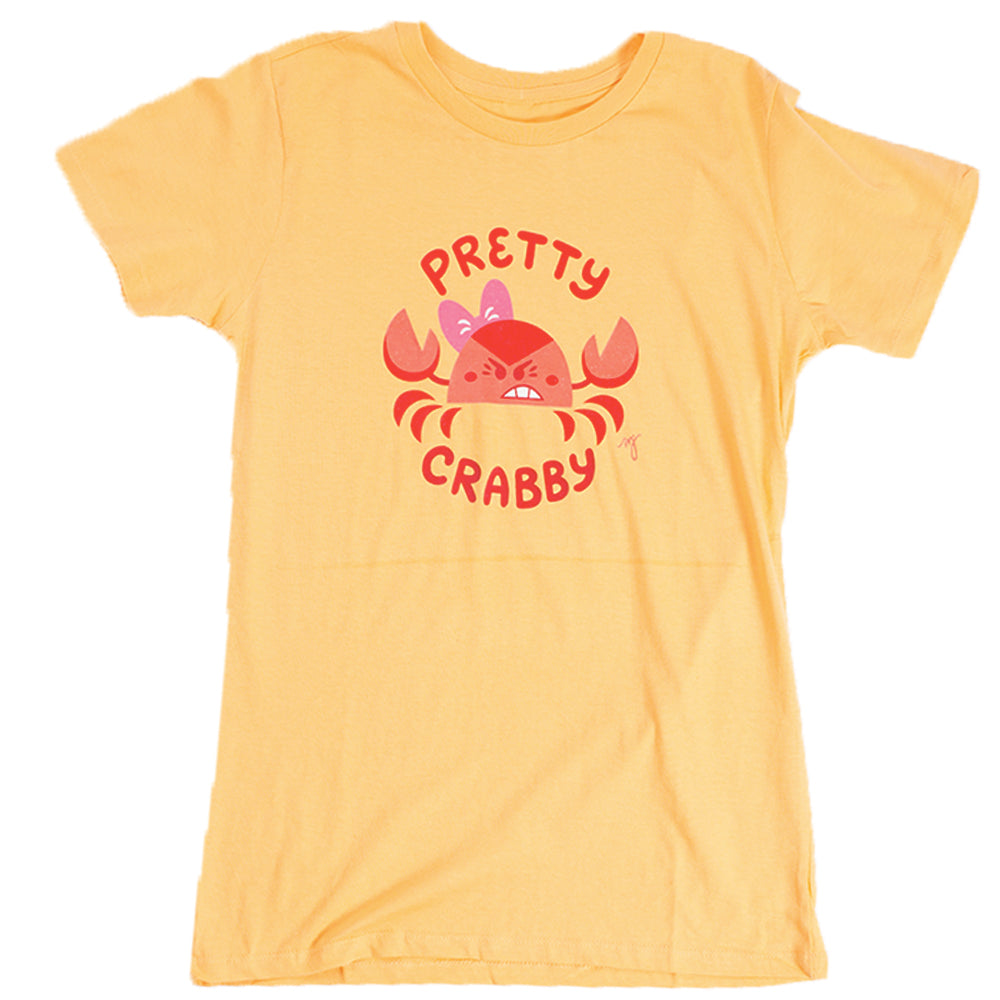 MD Pretty Crabby Adult Womens Tee Yellow