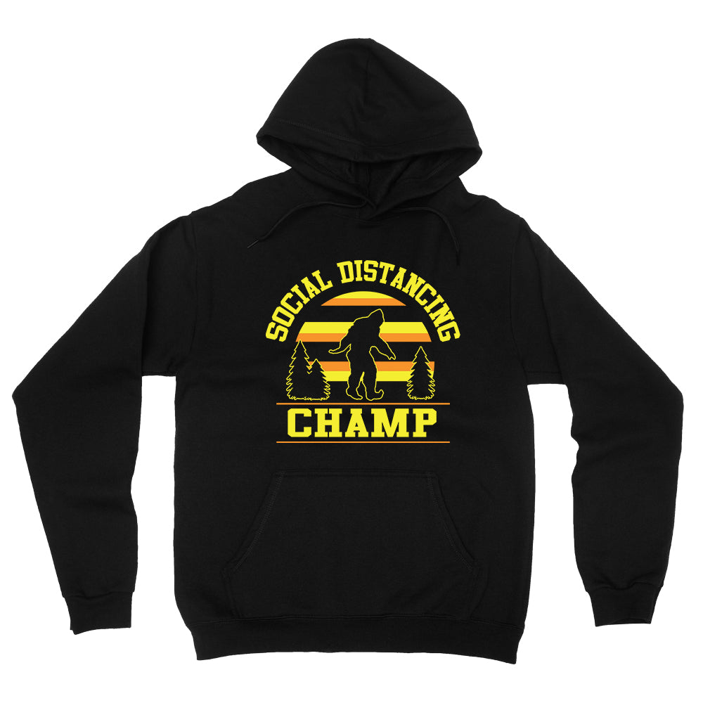 Dweegz: Social Distancing Champ Adult Hoodie Black