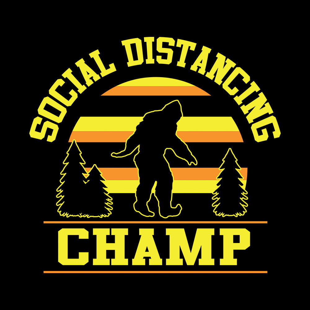 Dweegz: Social Distancing Champ Black Unisex Short Sleeve Tee