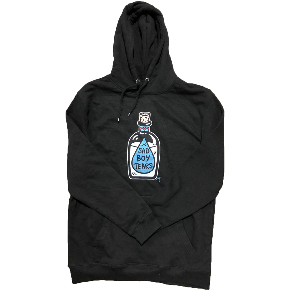 MD- Sad Boy Tears Adult Hoodie Black