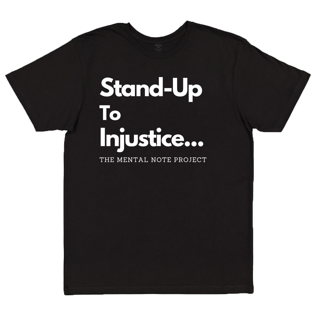 Stand Up Black Adult Unisex Short Sleeve Tee