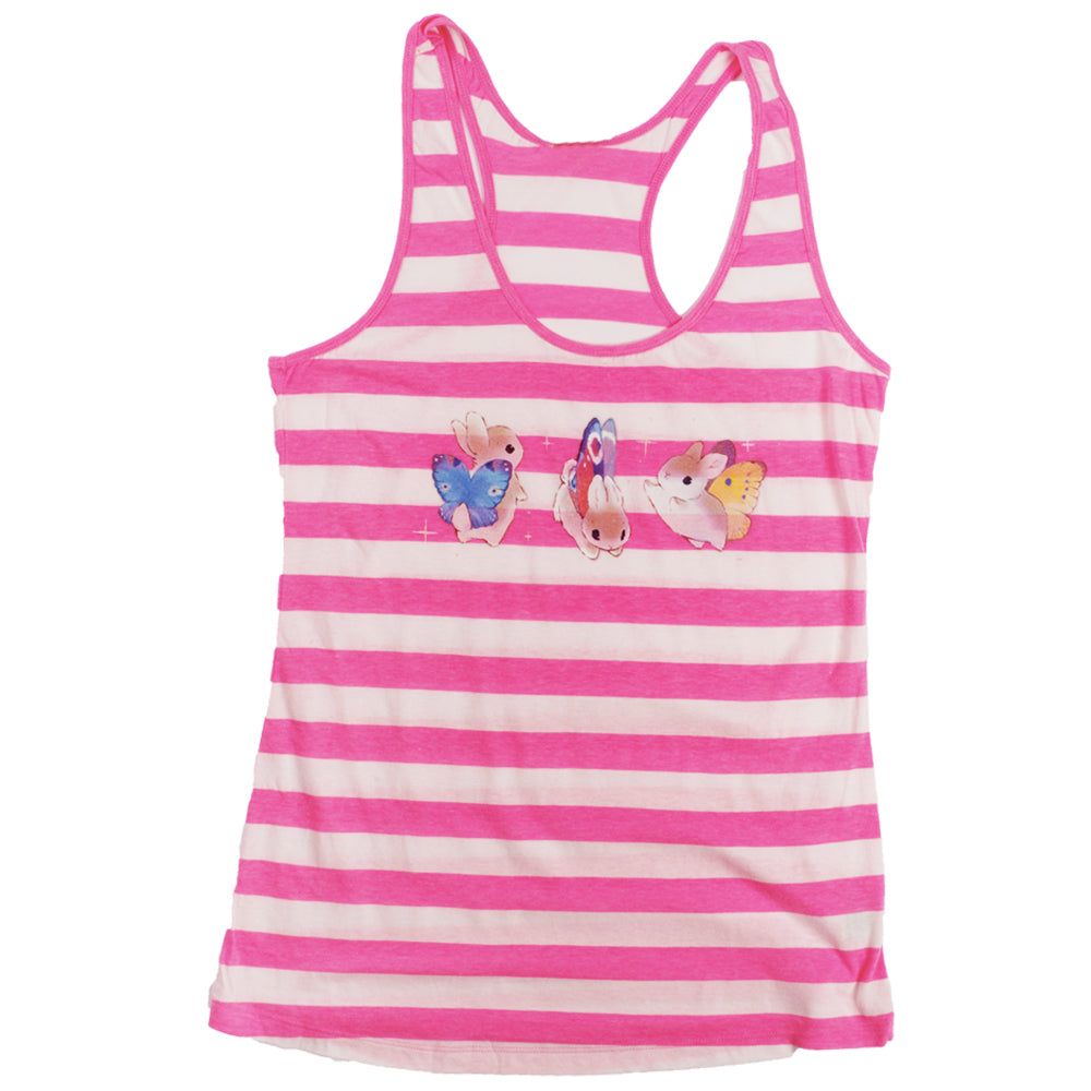 Heathersketcheroos : Bunnerfly Lines Striped Racerback Tank Top