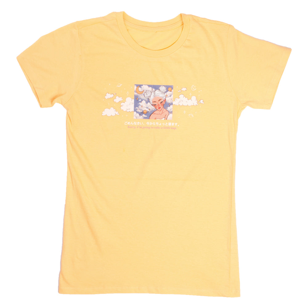 Neimy Kanani : Sorry, I'm Going To Take A Little Nap Womens Tee Yellow