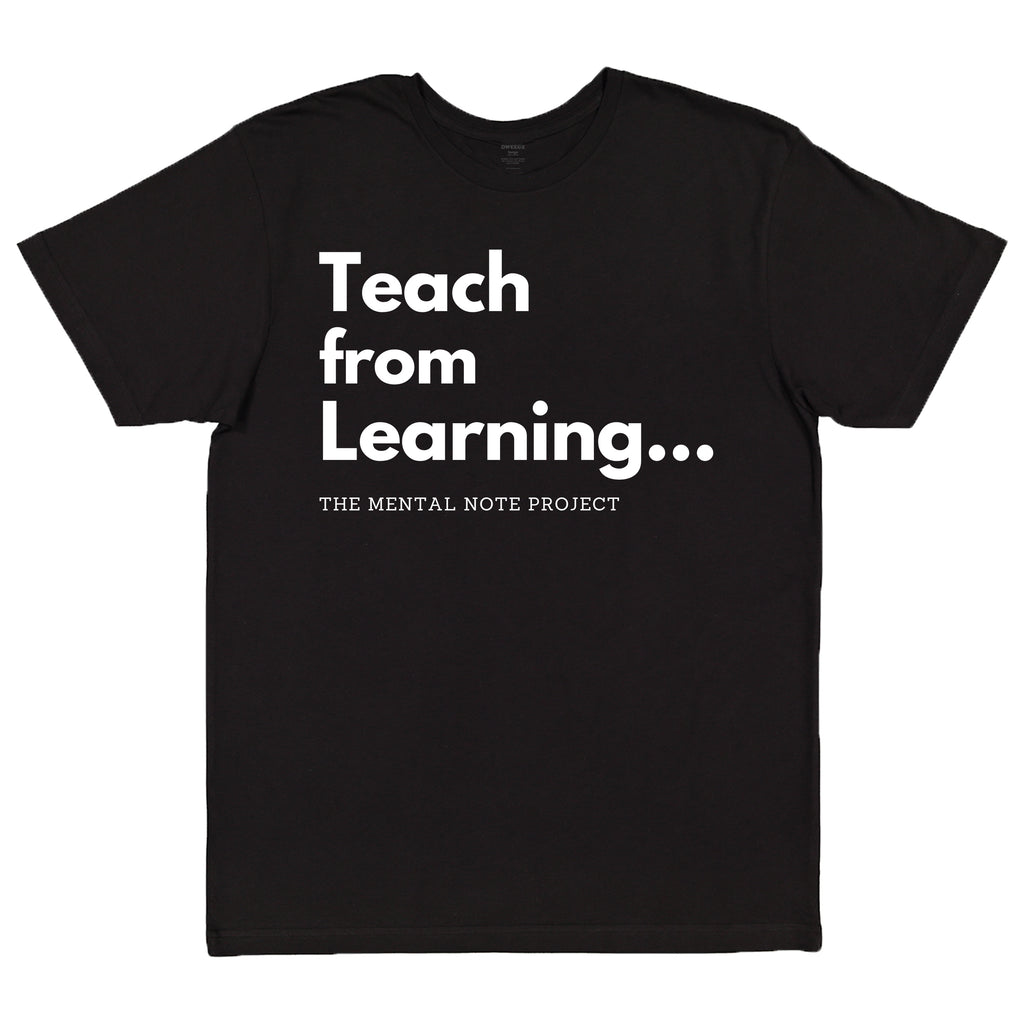 Teach Black Adult Unisex Short Sleeve Tee