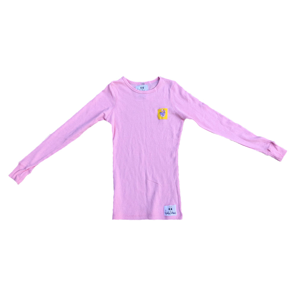 Heathersketcheroos: Bunnerfly Thermal- Pink with Yellow Patch